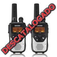 Pareja de walkies FX-332 de Brondi pmr446 de uso libre, sin licencia.